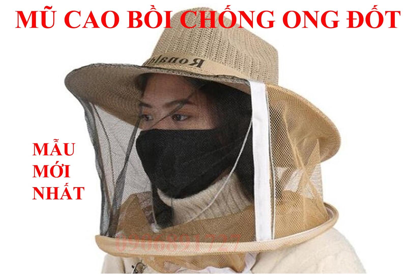 HCM - MŨ CAO BỒI CHỐNG ONG, MUỖI, CON TRÙNG ĐỐT